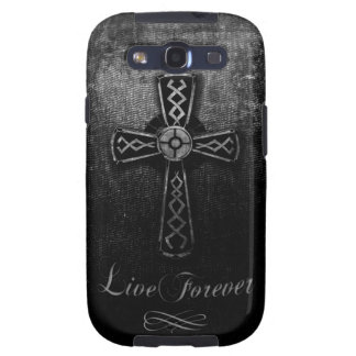 Live Forever Cross Samsung Galaxy SIII Cases