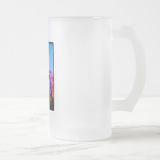 Live free 16 oz frosted glass beer mug