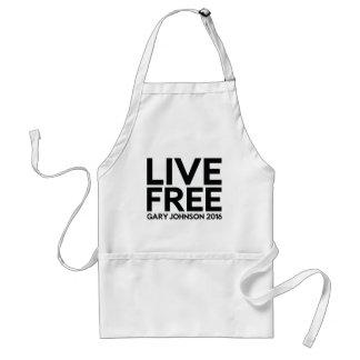 LIVE FREE ADULT APRON