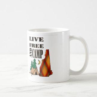 LIVE FREE and CAMP Classic White Coffee Mug