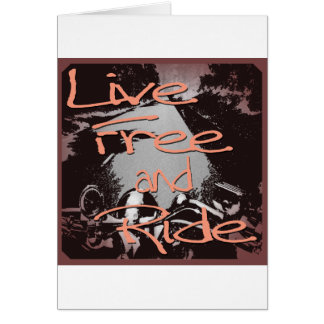 Live Free And Ride framed Greeting Card
