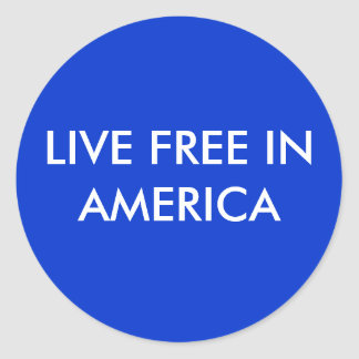 LIVE FREE IN AMERICA STICKERS