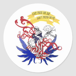 Live Free - Independence Day Classic Round Sticker
