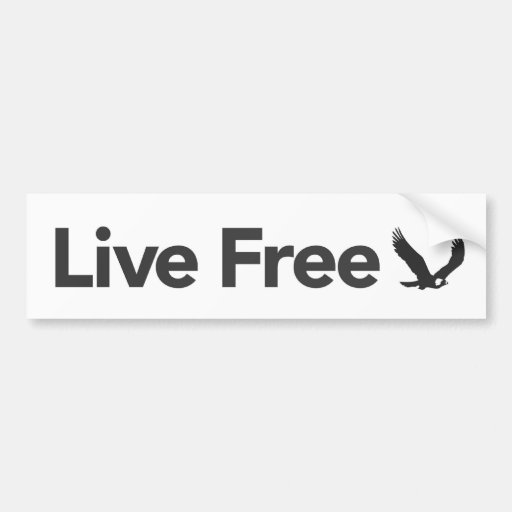 Live Free, Light Bumper Stickers