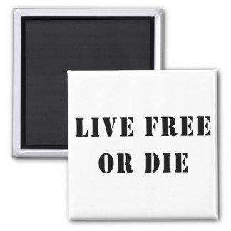Live Free Or Die 2 Inch Square Magnet