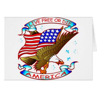 Live Free Or Die, America Card