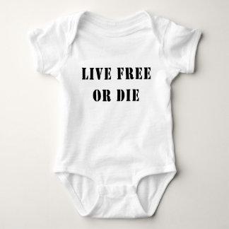 Live Free Or Die Baby Bodysuit