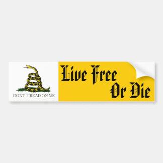 Live Free Or Die Bumper Sticker