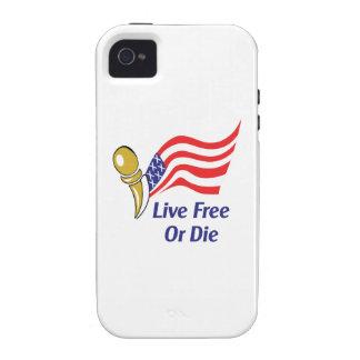 LIVE FREE OR DIE iPhone 4 CASE