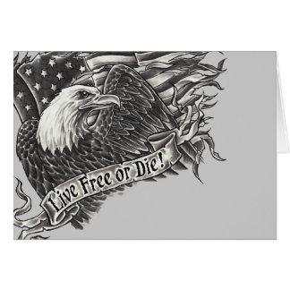 Live Free or Die Eagle Card