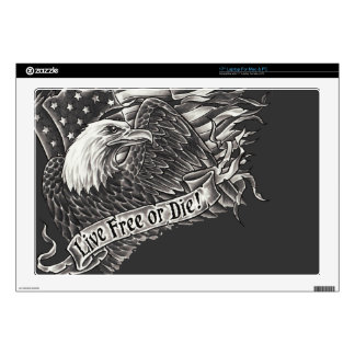 Live Free or Die Eagle Laptop Decal