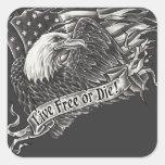 Live Free or Die Eagle Sticker