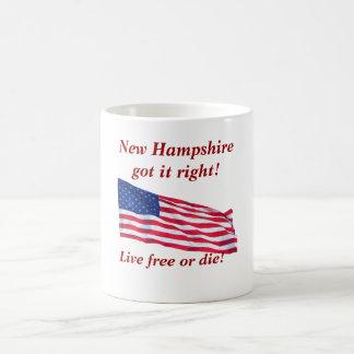 Live free or die! classic white coffee mug