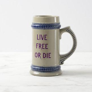 LIVE FREE , OR DIE 18 OZ BEER STEIN