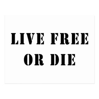 Live Free Or Die Postcard