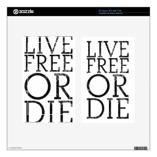Live Free or Die Skins For Kindle Fire