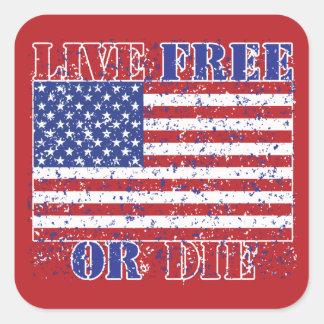 Live Free or Die Square Sticker