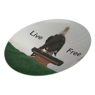 Live Free Party Plate