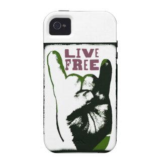Live Free Pop Art design iPhone 4 Cases
