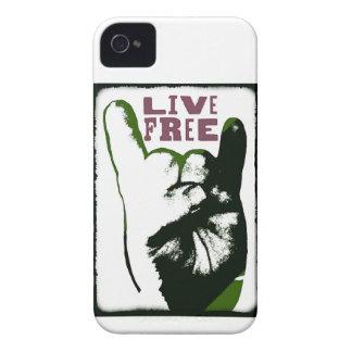 Live Free Pop Art design Case-Mate iPhone 4 Case