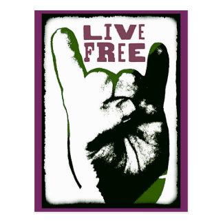 Live Free Pop Art design Postcard