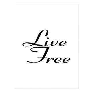Live Free Postcard