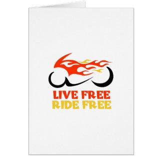 LIVE FREE RIDE FREE GREETING CARD