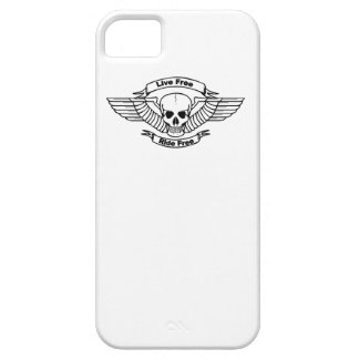 Live Free Ride Free Wings Skull iPhone 5 Case