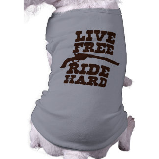 LIVE FREE RIDE HARD cowboy rodeo motto Shirt