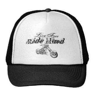 Live Free Ride Hard Trucker Hat