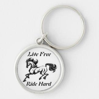 Live Free....Ride Hard Key Chain