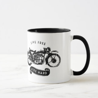 Live Free, Ride Hard Motorcycle Coffee Mug