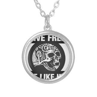 Live free ride like hell pendant