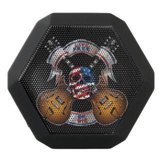Live Free Skull and Guitars - Customize Black Bluetooth Speaker