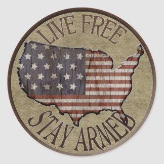 Live Free Stay Armed patriotic stickers