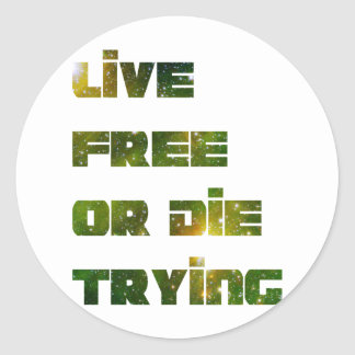 Live Free Round Stickers