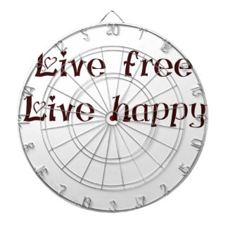 live free trend chic quote with funny text dartboard with darts