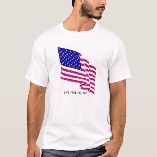 Live Free US Flag T-Shirt