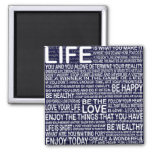 Live fully, Live love laugh learn, motivational 2 Inch Square Magnet