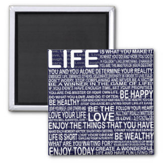 Live fully, Live love laugh learn, motivational Magnet