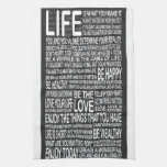 Live fully, Live love laugh learn, motivational po Hand Towels