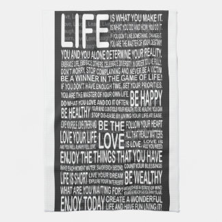 Live fully, Live love laugh learn, motivational po Towel
