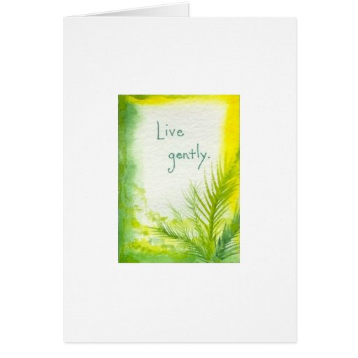 Live Gently Watercolor Greeting Cards