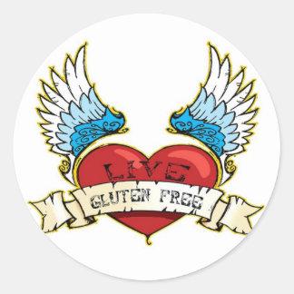 Live Gluten Free Classic Round Sticker