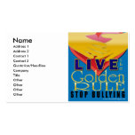 live golden rule stop bullying Double-Sided standard business cards (Pack of 100)