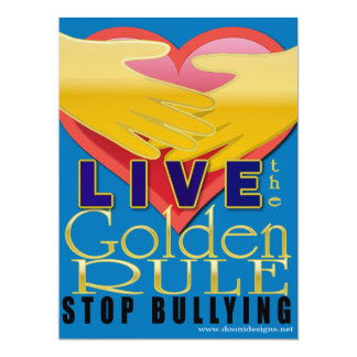 live golden rule stop bullying card