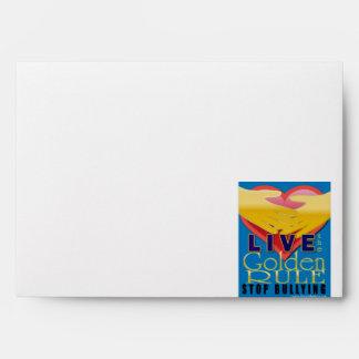 live golden rule stop bullying envelope