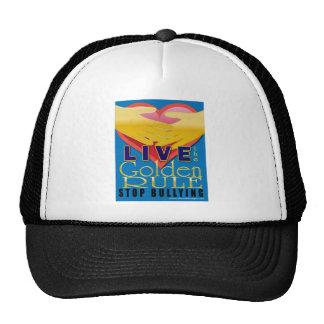 live golden rule stop bullying trucker hat