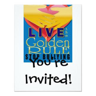 live golden rule stop bullying custom invites