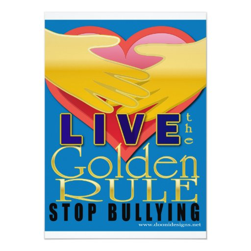 live golden rule stop bullying invitation